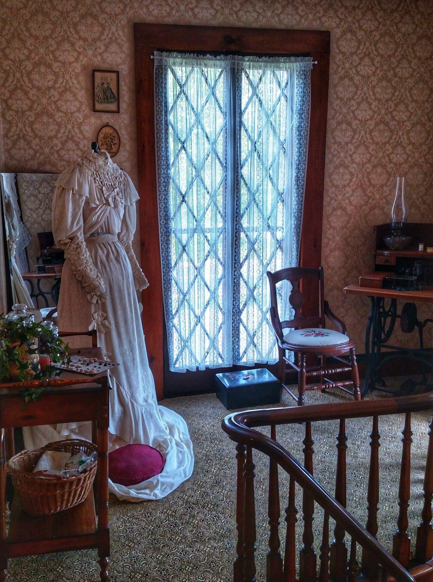 Upstairs landing sewing room