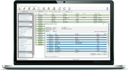 computer checkbook register