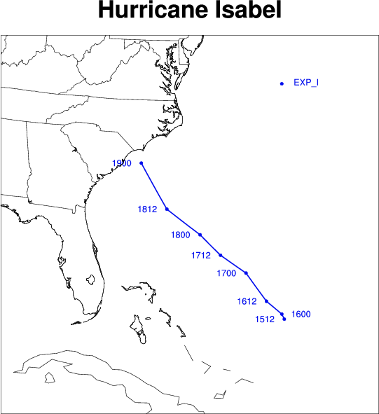NCL Graphics: WRF storm tracks