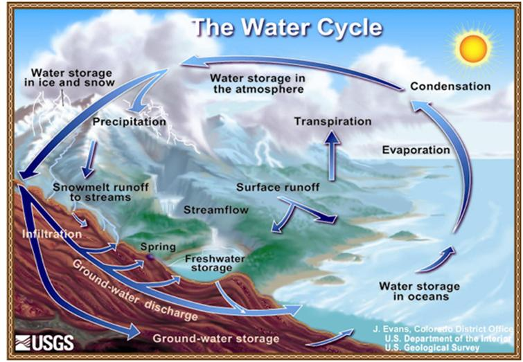 diagram of the water