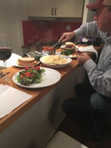 """First dinner at """"home"""" in Antibes with Johnnie Bud"""
