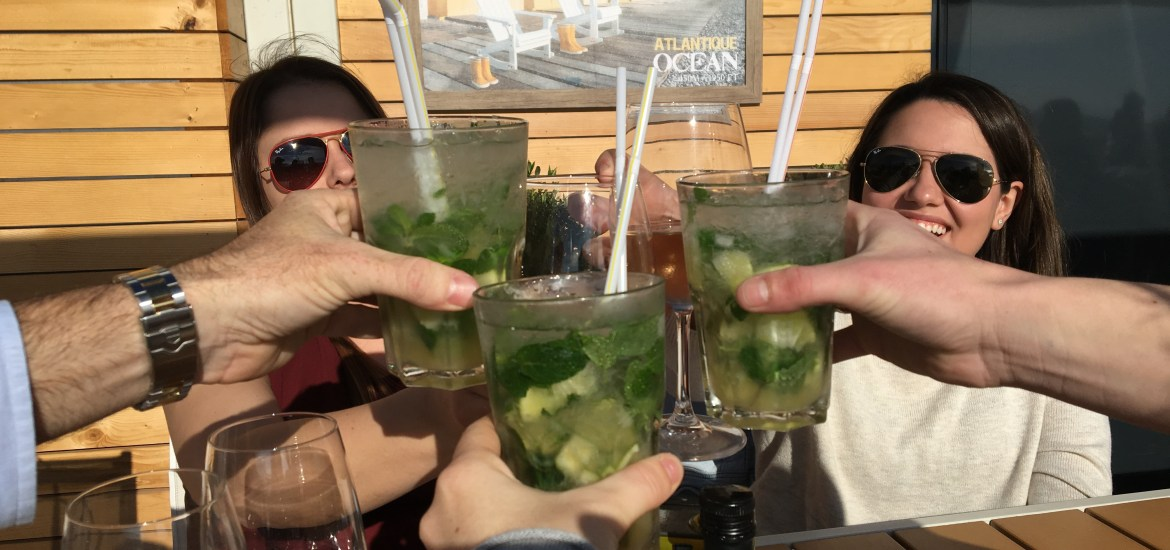Cheers to day drinking in Cannes with good friends