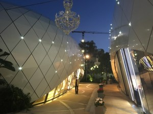 Luxe shopping designer boutique village in Monaco