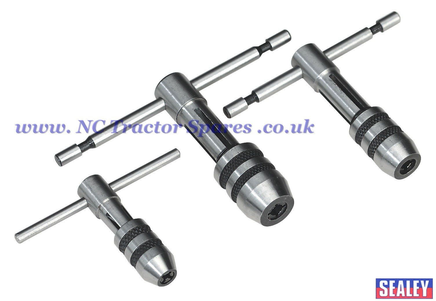 T Handle Tap Wrench Set 3pc