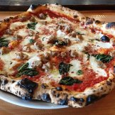 MargheritMargherita with sausage at Tre Forni in Durham