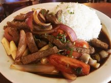 Lomo saltado at PIsco Mar