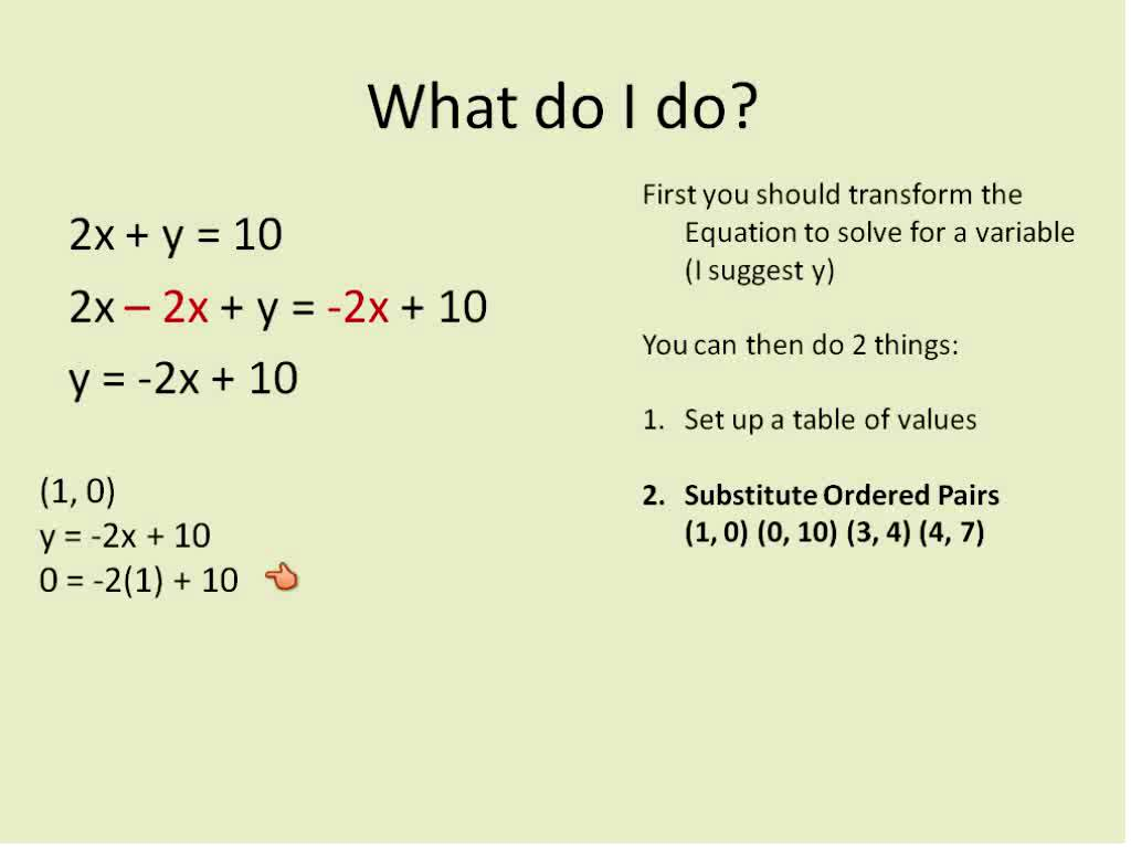 Algebra 1 Lesson 1 Linear Equations Equations With X And