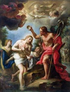 Le baptême de Jésus - Francesco Trevisani -