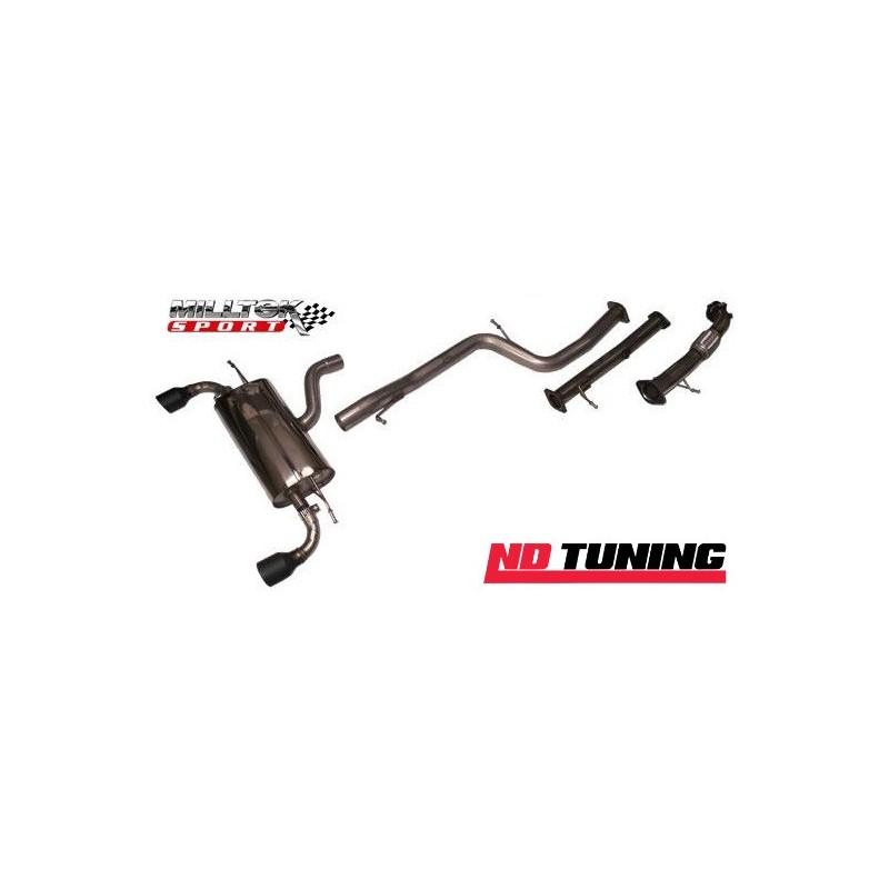 Ford Focus Mk2 ST225 Miltek Sport Full Turbo Back System