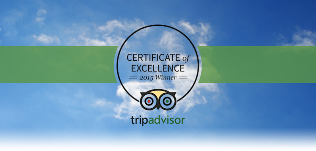 NDAC awarded 2015 Certificate of Excellence from TripAdvisor