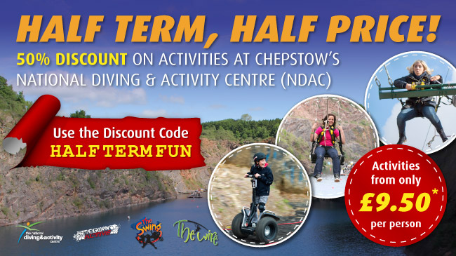 50% Discount on Segway, Zip Slide and 3G Swing Chepstow