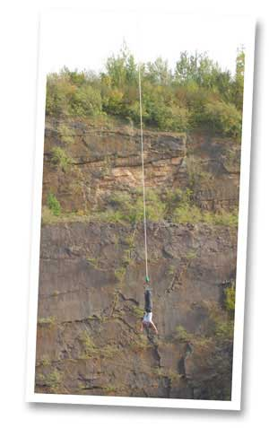 Bungee Jump over water in NDAC Quarry