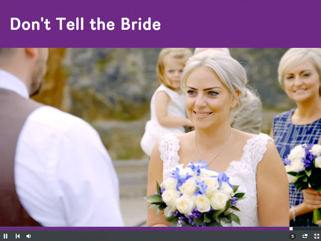 Don't Tell The Bride Filmed at NDAC Water View Marquee Chepstow