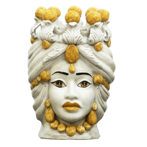 Vaso a Testa di Moro di Caltagirone in ceramica