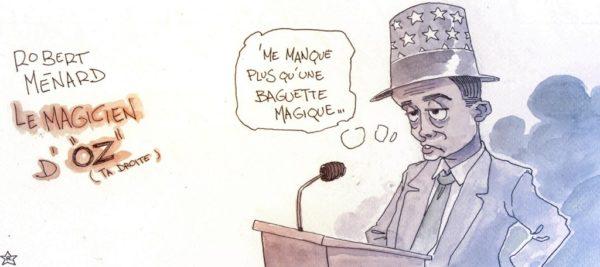 Le magicien d'Oz a oublié sa baguette