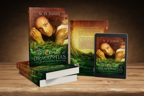 Stones of Dracontias the Bloodstone Dragon African American Urban Fantasy by ND Jones