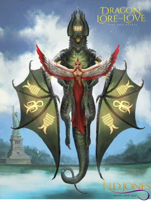 Isis and Osiris Dragon Concept Art by Paranormal Romance author ND Jones
