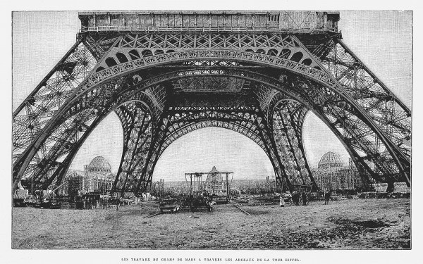 Passing Under Eiffel Tower Construction Champ