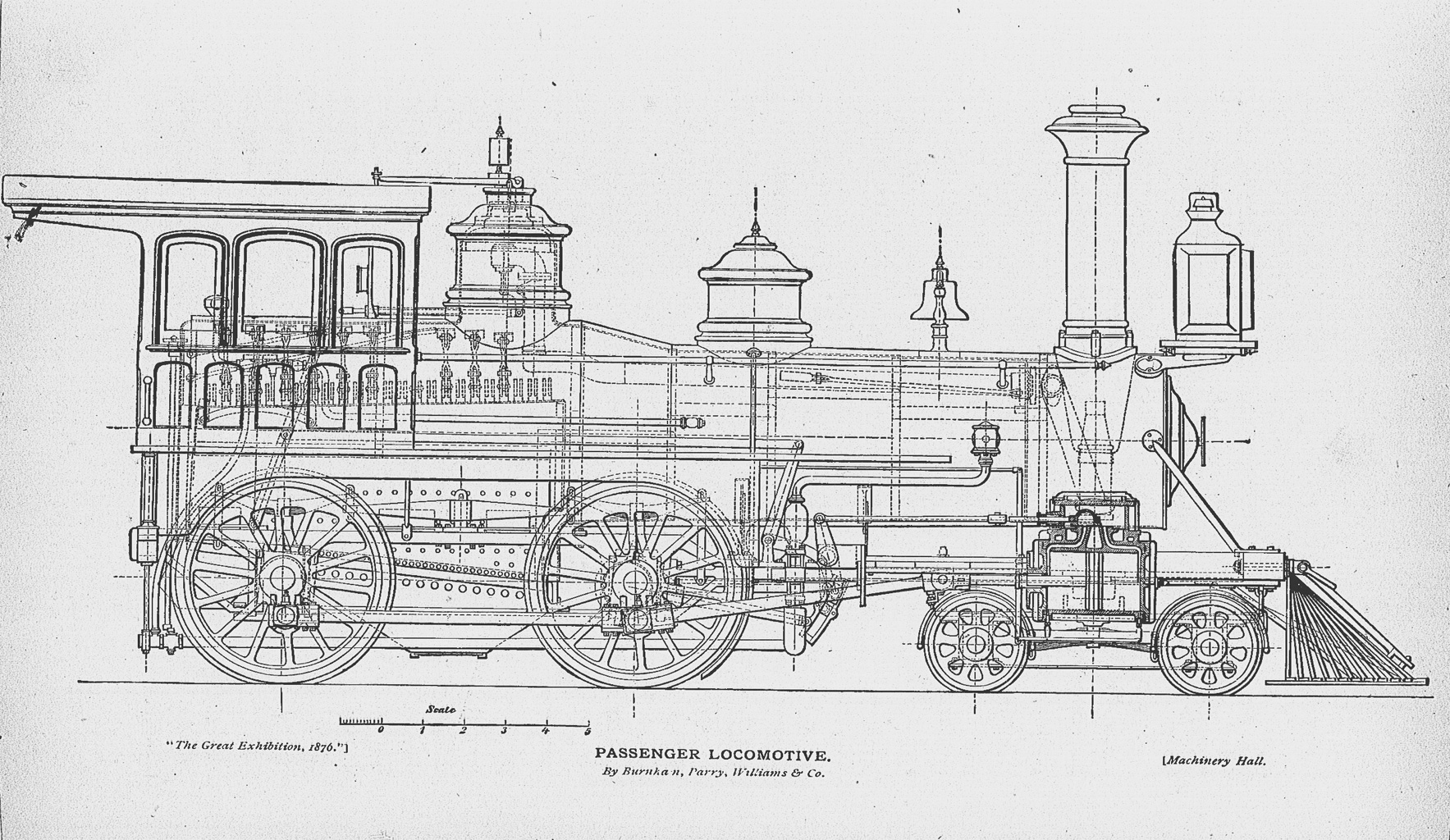 Design Drawing Of Baldwin S Steam Locomotive Larger Image