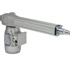 Linear actuators with orthogonal motor