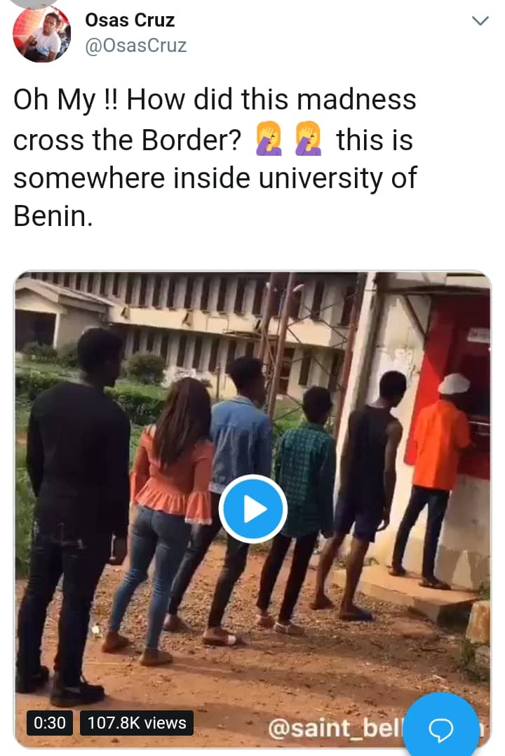 'Fall Down & Die Dance' Challenge Hits UNIBEN ATM And UNIZIK Lecture Hall (video) 1
