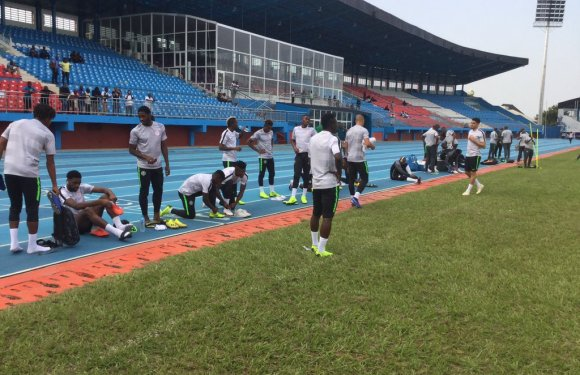 Check out Super Eagles Training In Asaba Ahead Of South Africa Clash (Photos)⚽