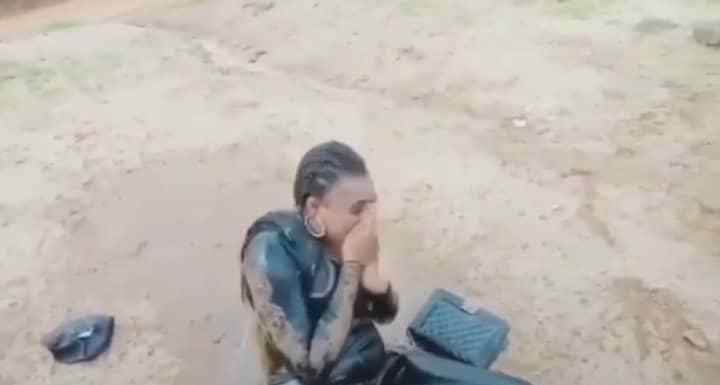 Woman Pours Bucket Of Water On Her Daughter After She Did The 'Faint Dance'