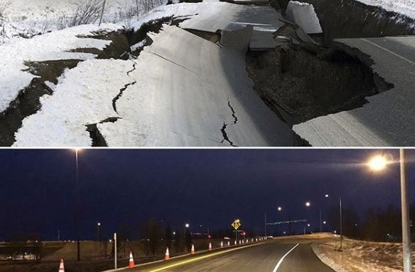 Pro-Active Government: US Government Repairs A Major Road Destroyed By Earthquake in 5-Days (Photo)