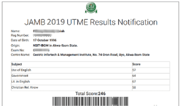 JAMB 2019: Check Your Results Using JAMB Registration Number