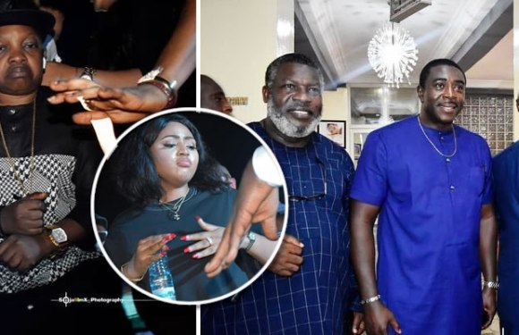 Aki Show Off Dancing Skills As Popular Nollywood Actors Celebrate With Regina Daniels And Ned Nwoko (Photos)