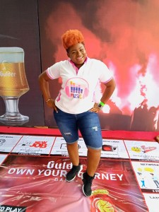 "Akwa Ibom Female Dj Ritzy shines at ""Gulder Red Night Party"""