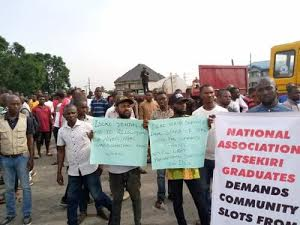Delta Youths Disrupt Economic Activities Of NNPC's Subsidiaries In Warri