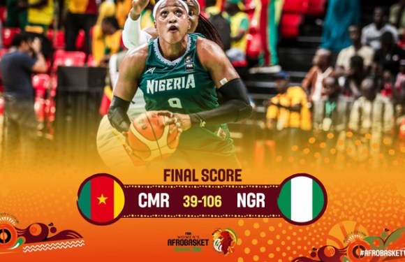 Nigeria Defeats Cameroon 106-39. Qualifies For Quarter Final Of Afrobasket