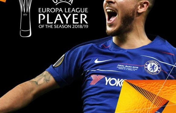 Eden Hazard Wins 2019 Europa League Player Of The Season Award