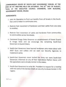 Security: Summary Of Agreements Reached As SE Governors Meet