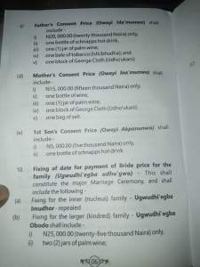 Rivers State Community Drafts Bride Price Constitution