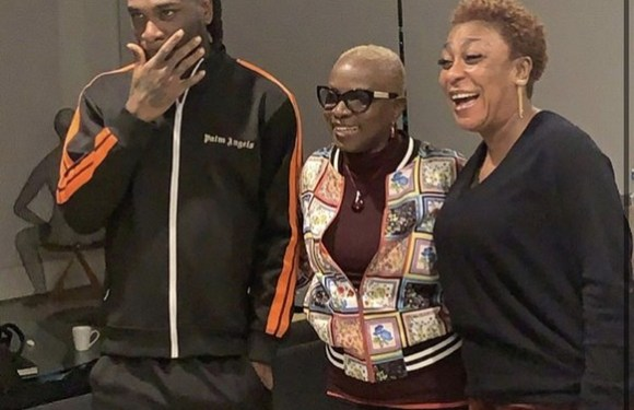Grammy Award Winner, Angelique Kidjo Meets Burna Boy And His Mother In Lagos