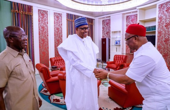 President Buhari Receives Hope Uzodinma In Abuja (Photos)