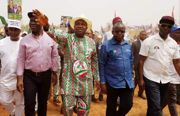 Enugu LG Polls: Governor Ugwuanyi, Ekweremadu, Others Campaign For PDP
