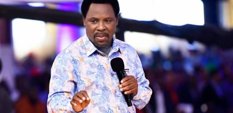Gather coronavirus patients for prayers – T. B. Joshua tells Nigeria, other countries