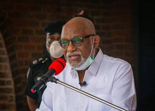 Gov. Akeredolu lifts ban on religious gathering as Ondo records second COVID-19 death