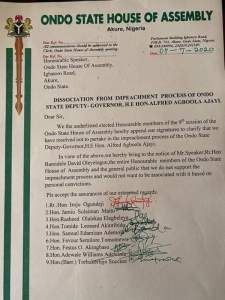 Seven reasons Ondo lawmakers want deputy governor removed