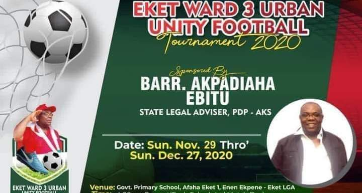 Akwa Ibom PDP Legal adviser hosts football Competition in Community