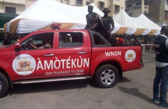 End SARS: Amotekun nabs suspected looters, arsonists in Ondo, recovers police rifle, others