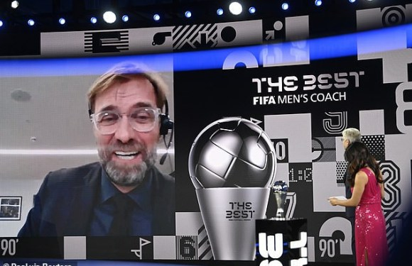 FIFA Awards 2020: Liverpool Manager, Jurgen Klopp wins men's Coach of the Year