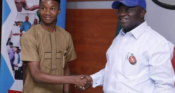 Gov Ikpeazu hosts 17-year old one-day Governor