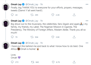 Omah Lay Shares experience in the hands of Ugandan authorities
