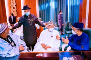 Buhari, Osinbajo meet with 36 state governors