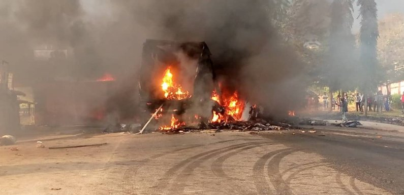 Many dead as trucks collide, burst into flames in Ondo [PHOTOS]