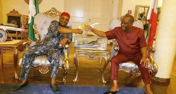 Wike holds meeting with former Abia Governor, Kalu